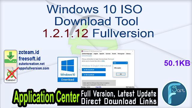 Windows 10 ISO Download Tool 1.2.1.12 Fullversion