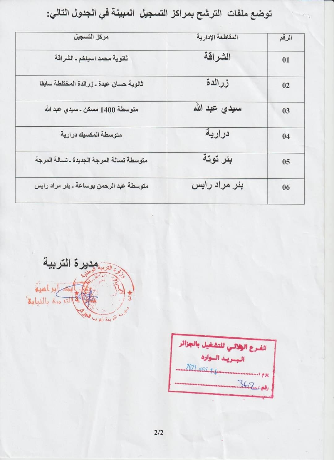 مديرية التربية الجزائر غرب