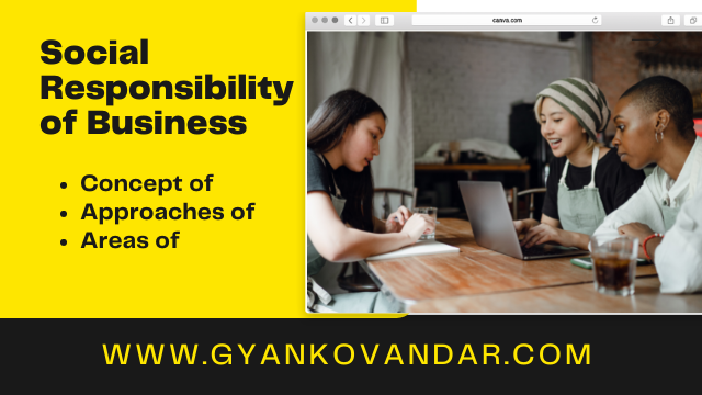 Social Responsibility of Business: Concept, Approaches and Areas