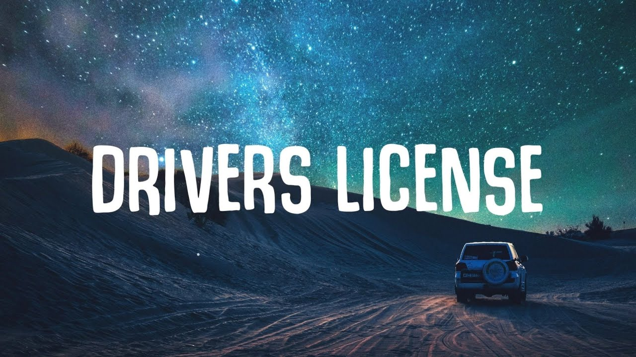 Drivers License Lyrics in English - Olivia Rodrigo