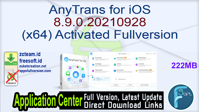 AnyTrans for iOS 8.9.0.20210928 (x64) Activated Fullversion