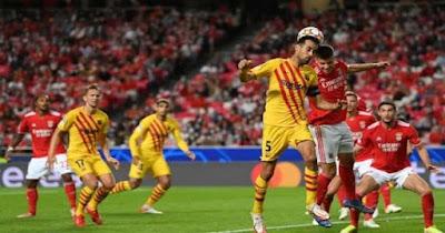 برشلونة يتلقى الهزيمة الثانية على التوالي في دوري أبطال أوروبا أمام بنفيكا