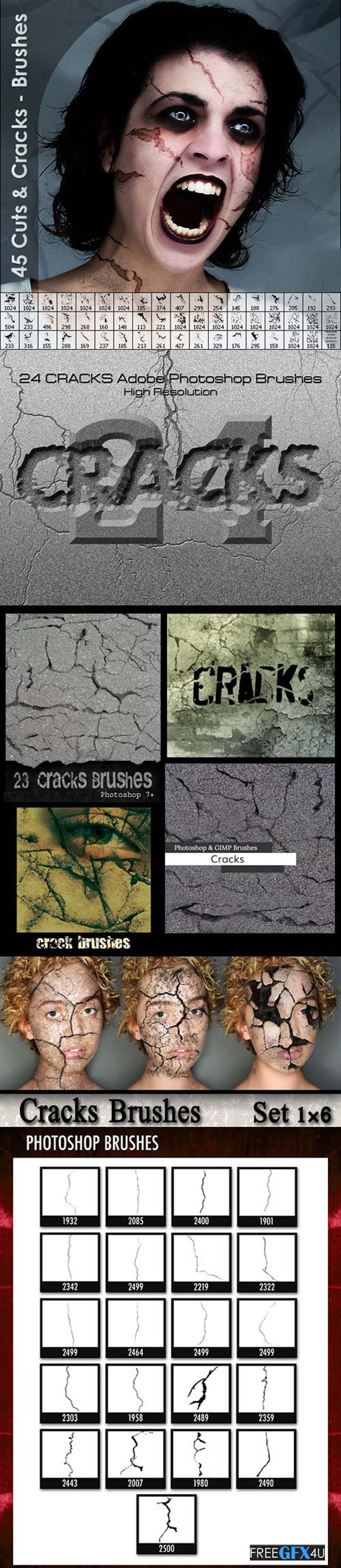 135+ Pretty Cuts And Cracks Brushes For Photoshop