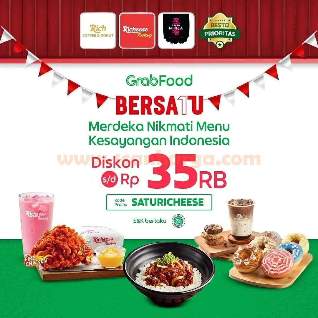 Richeese Factory Promo Diskon Rp 35.000 via Grabfood