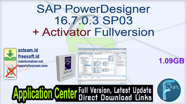 SAP PowerDesigner 16.7.0.3 SP03 + Activator Fullversion