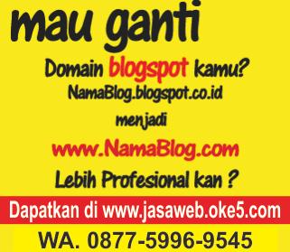 Jasa Ganti Domain Blogspot dengan Domain Com