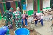 Babinsa Sertu Cep Wahyu Laksanakan Gotong royong Untuk Perbaikan Jalan Kp.Pasirlengking Desa Cidadap