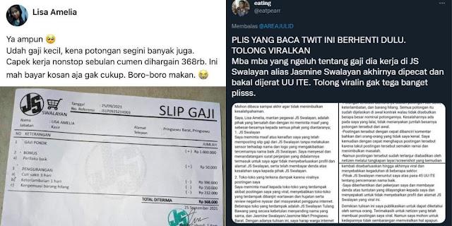 Curhat Gaji Dipotong hingga Sisa Rp300 Ribu, Karyawan Swalayan Ini Dipecat dan Dituntut UU ITE
