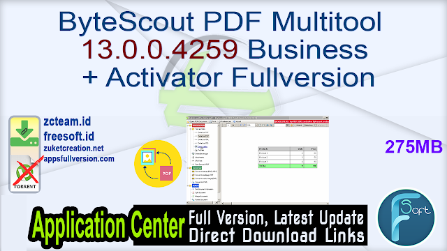 ByteScout PDF Multitool 13.0.0.4259 Business + Activator Fullversion
