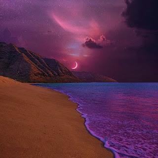 Aesthetic Purple Beach