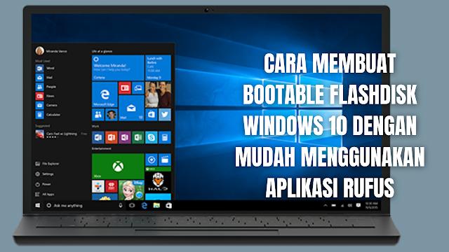 """Cara Membuat Bootable Flashdisk Windows 10 Dengan Mudah Menggunakan Aplikasi Rufus Untuk membuat bootable windows 10 pada flashdisk, dibutuhkan flashdisk 8 GB yang masih baru atau kosong. Sebab pada proses pembuatan bootable windows 10 akan membuat flashdisk terformat atau data-data yang tersimpan pada flashdisk akan terhapus secara otomatis.  Jadi sangat disarankan untuk membeli flashdisk dengan kapasitas 8 GB baru saja atau pindahkan terlebih dahulu data-data yang tersimpan pada flashdisk ke penyimpanan lainnya seperti pada laptop atau komputer atau penyimpanan eksternal lainnya.  Untuk membuat bootable windows 10 pada flashdisk pada artikel ini akan menggunakan aplikasi Rufus, jadi silahkan terledih dahulu untuk menginstall aplikasi rufus melalui situs resmi rufus. Setelah flasdisk 8GB dan aplikasi rufus sudah disediakan, maka silahkan ikuti langkah-langkah berikut :  Buka halaman """"Microsoft Creation Tools"""" Scroll kebagian bawah pilih """"Download Tool Now"""" dan tunggu file selesai di unduh Setelah selesai silahkan buka """"File Yang Telah Di Unduh"""" Tunggu beberapa saat lalu pilih """"Accept"""" Tunggu beberapa saat lalu pilih """"Create Instalation Media (USB Flash Drive, DVD or ISO File) For Another PC"""" lalu pilih """"Next"""" Pada """"Select Language, Architecture adn Edition"""" silahkan memilih windows yang dibutuhkan dengan menghilangkan tanda centang pada """"Use Recommended Options For This PC"""", silahkan pilih bahasa, edisi windows, dan arsitekture (Sesuaikan dengan spesifikasi laptop atau PC yang ingin di install windows). Setelah selesai memilih windows yang ingin di download atau unduh Lalu pilih """"Next"""" Pada """"Choose Which Media To Use"""" silahkan pilih """"ISO File"""" lalu pilih """"Next"""" Pilih tempat penyimpanan file iso windows 10 yang ingin di unduh atau download dan """"Beri Nama File Dengan Windows 10"""", silahkan simpan pada """"Penyimpanan Laptop atau Komputer Terlebih Dahulu"""". Proses mengunduh atau download akan berjalan dan biasanya proses ini akan berjalan cukup lama tergantung kecepatan in"""