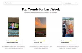 Snapchat launches Snapchat Trends