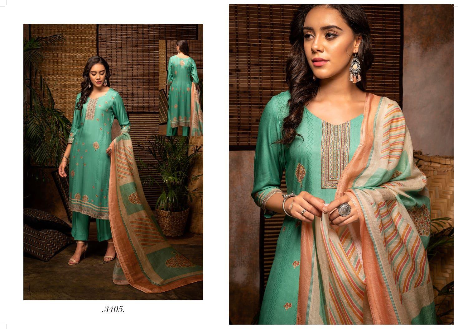 Rivaa Jivika Pashmina Suits Catalog Lowest Price