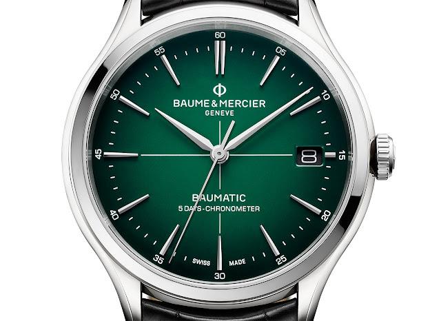 Baume et Mercier Clifton Baumatic with green dial ref. M0A10592