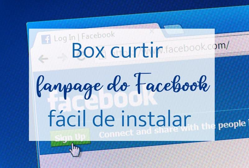 Box curtir fanpage do Facebook, fácil de instalar