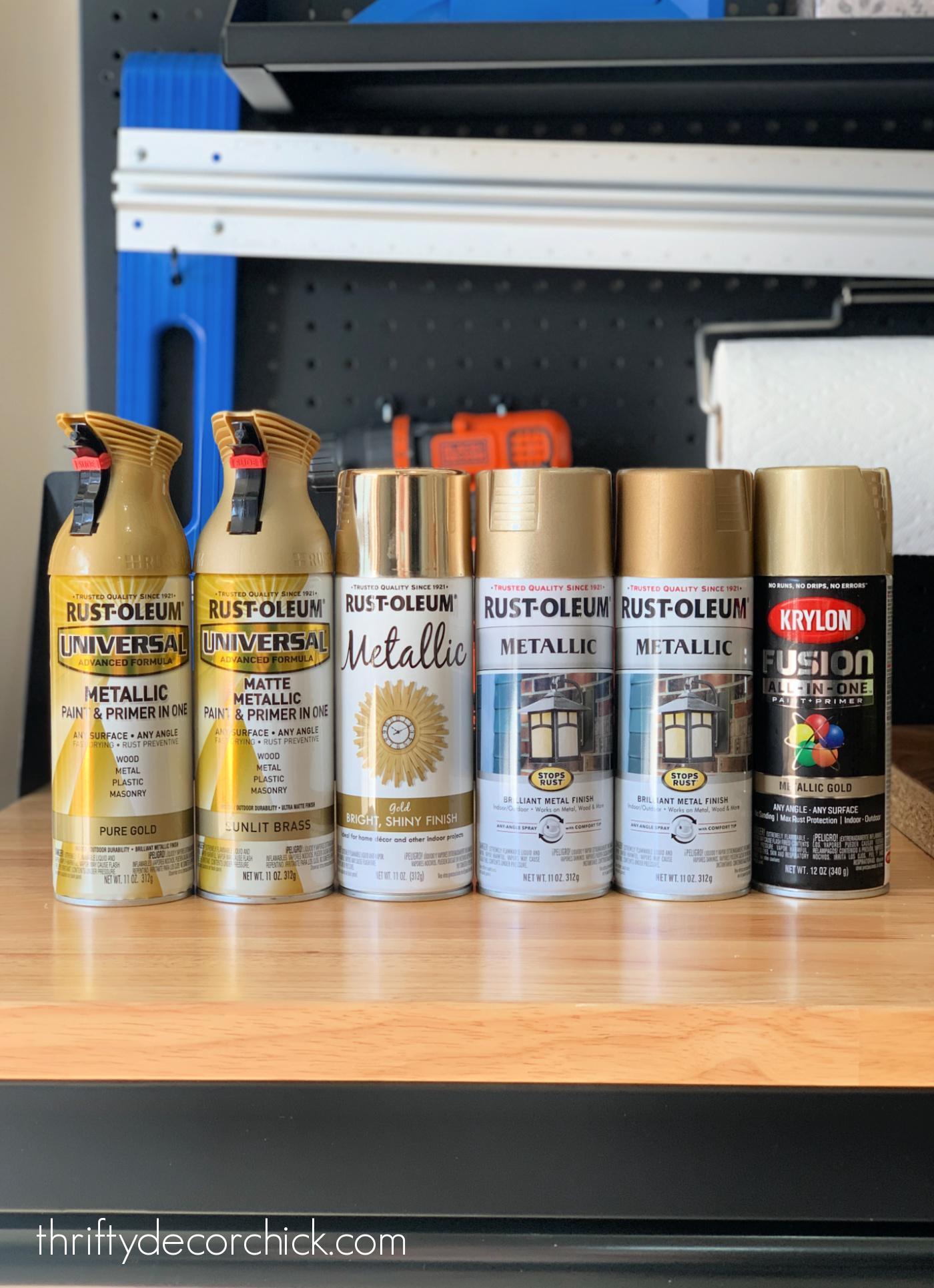 Finding the best brass spray paint