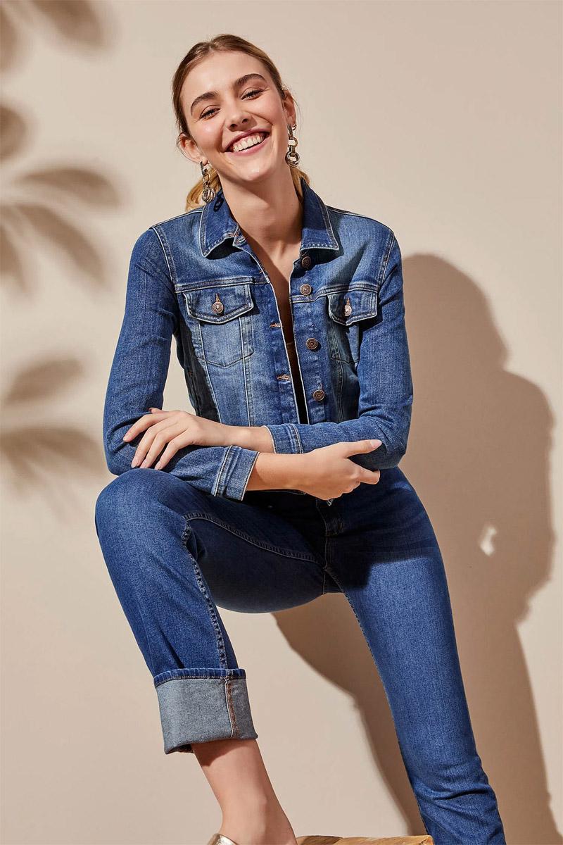 pantalon skinny recto en botamanga moda verano 2022 campera de jean clasica 2022 mujer