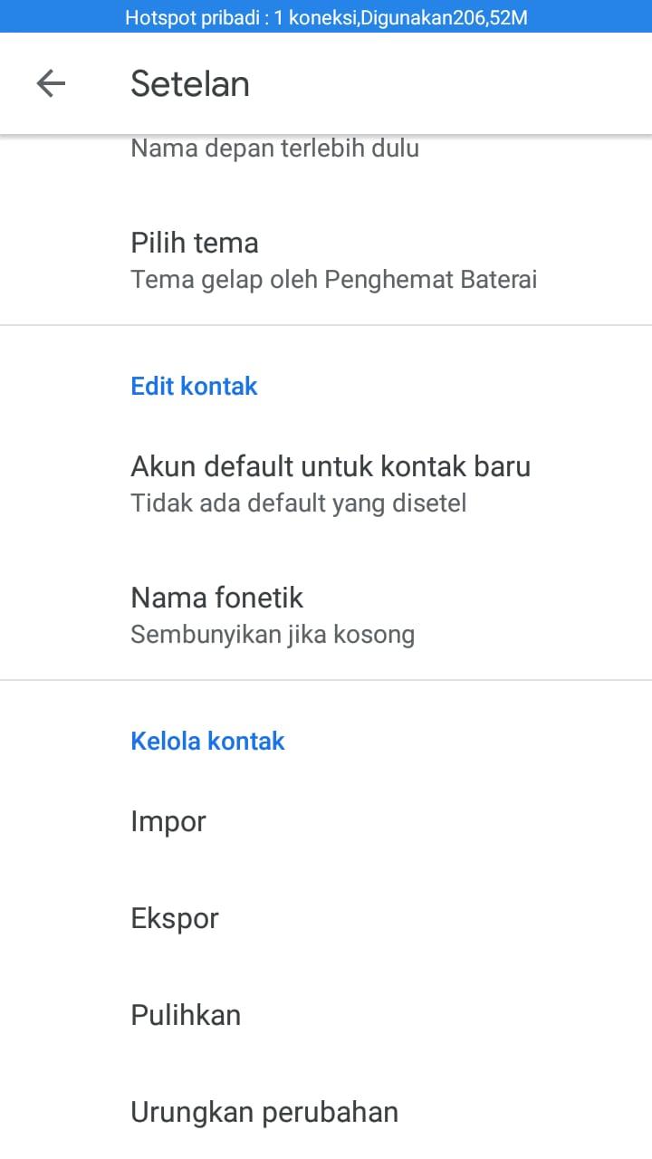Cara Backup Phonebook Google Contact Android ke Gmail