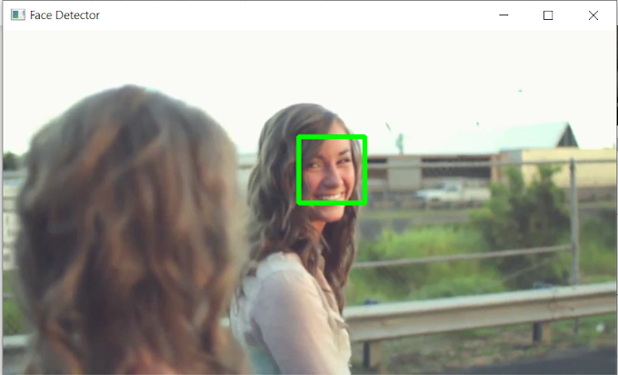 Detecting And Tracking Face in Python Using Haarcascade Framework