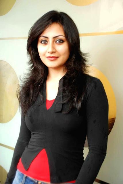 Actress Rimi Sen Photos in Black Top and Blue Jeans Navel Queens