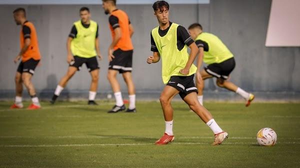 Málaga, entrenamiento con las novedades de Larrubia y Moussa