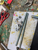 1/2 inch rods, nuts and washers