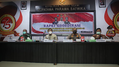 Sukseskan Penurunan Angka Covid-19, Forkopimda Ngawi Gelar Rapat Koordinasi Sinegritas Pelaksanaan Vaksinasi