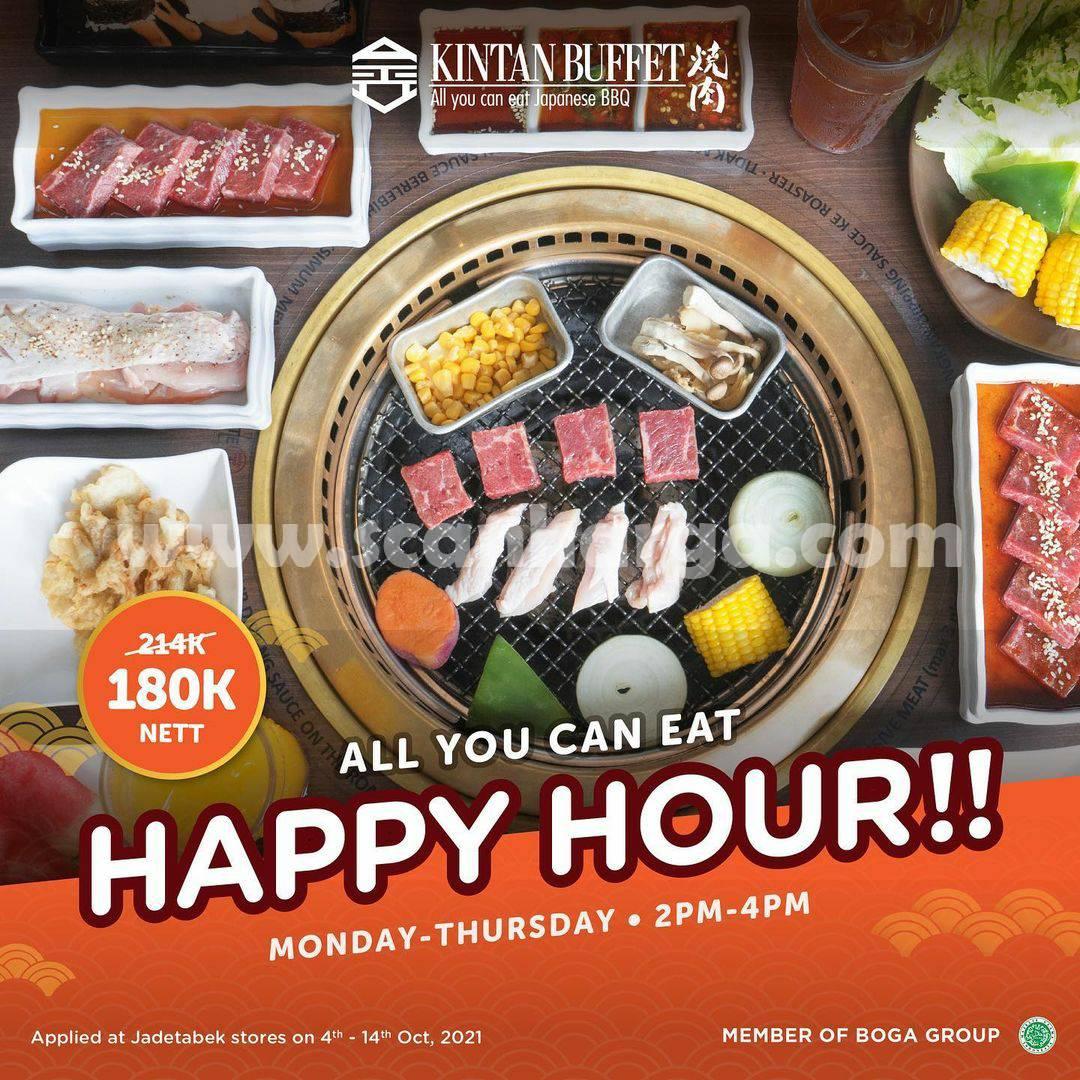 Promo KINTAN BUFFET All You Can Eat HAPPY HOUR Cuma Rp. 180.000 nett