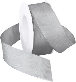 Gray Silver Taffeta Ribbons For Craft or Decor Projects