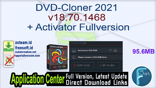 DVD-Cloner 2021 v18.70.1468 + Activator Fullversion