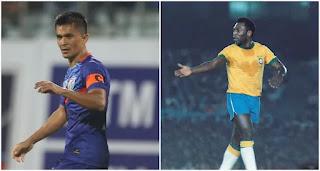 Sunil Chhetri and Pele