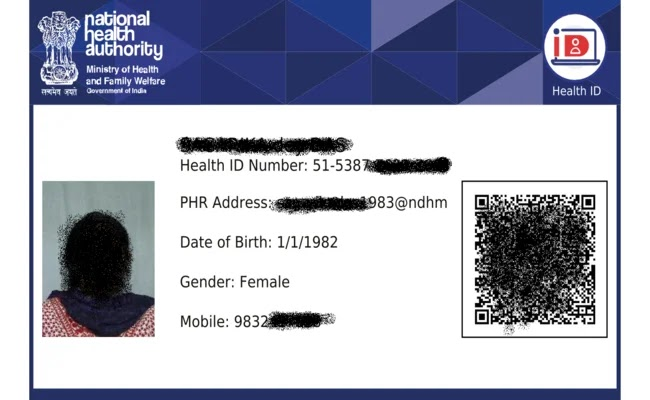 Health ID card