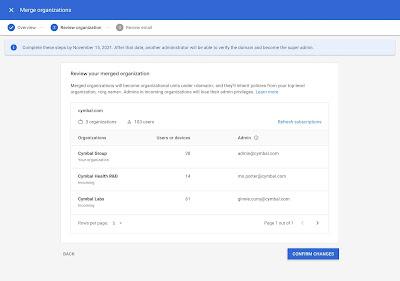 écran de la console d'administration pour prendre le contrôle des instances WorkspaceEssentials dans votre domaine