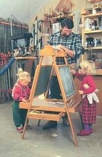 Elise Hauenstein's husband Norm with 2 children