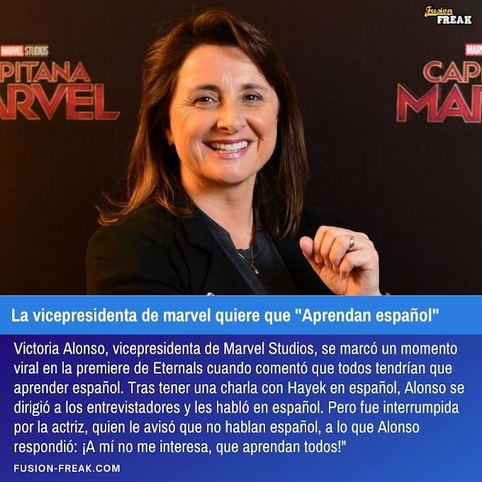 """La vicepresidenta de Marvel quiere que """"aprendan español"""""""