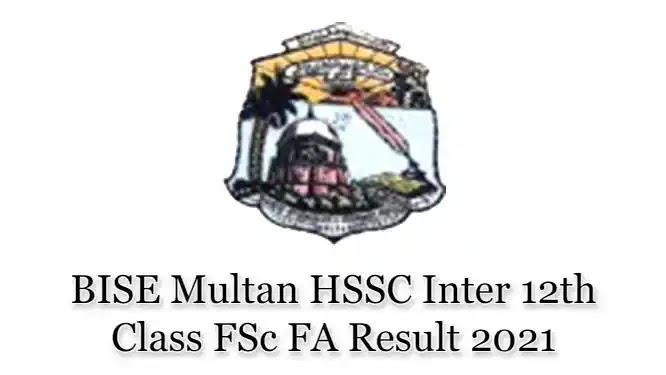 BISE Multan Board HSSC Inter FSc FA Top Position Holders 2021