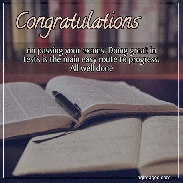 Congratulations Images For Success in Exams
