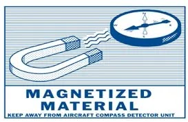 Magnetized Material Hazard Label