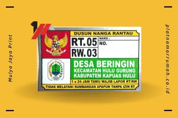 Nomor Rumah Kab. Kapuas Hulu (Kalimantan Barat)