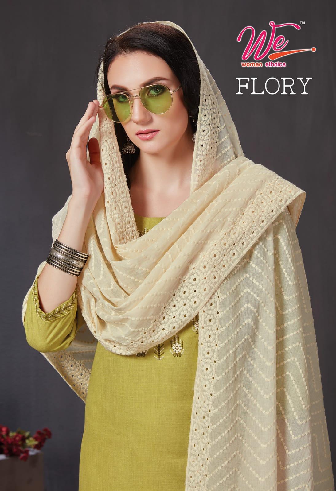 Women Ethnics Flory Kurti Dupatta Set Catalog Lowest Price