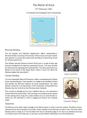 The Battle of Arica - A scenario for Dahlgren and Columbiad