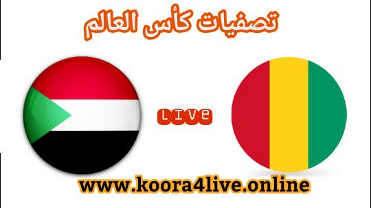مشاهدة مباراة السودان وغينيا اليوم في بث مباشر على موقع koora4live