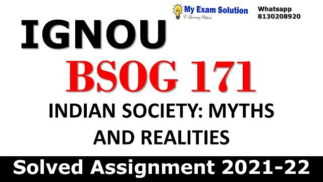 BSOG 171 Solved Assignment 2021-22