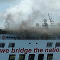 Tidak Jelas, KMP Sangke Pallangga Terbakar atau Simulasi