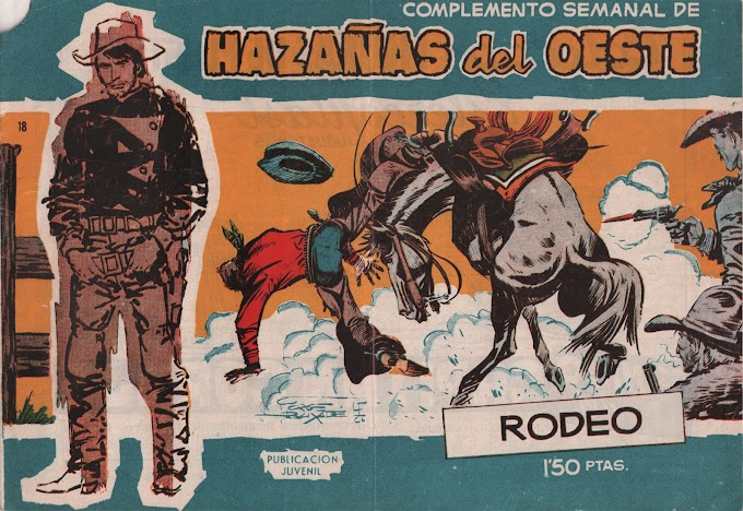 HAZANAS DEL OESTE SERIE AZUL-18 - Rodeo  -LEITURA ONLINE DE QUADRINHOS EM ESPANHOL