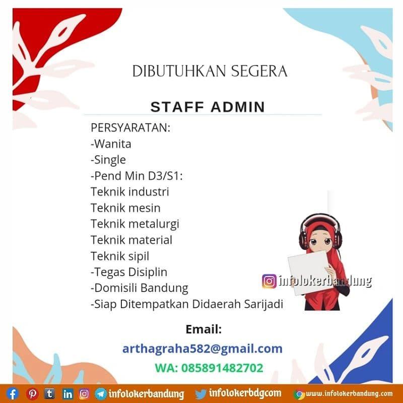 Lowongan Kerja CV. Arthagraha Bandung Oktober 2021