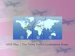 IATA Map    The Three Traffic Conference Areas