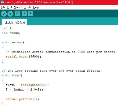 coding arduino lm35