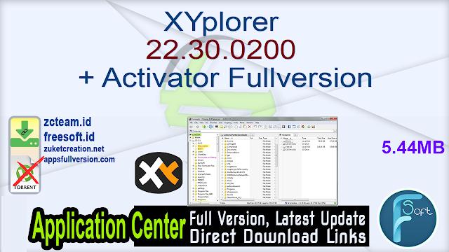 XYplorer 22.30.0200 + Activator Fullversion