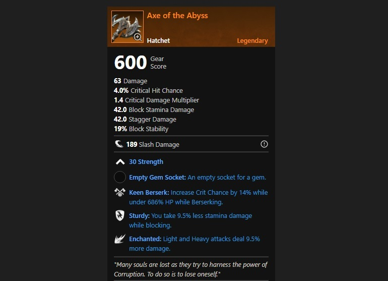 Axe of the Abyss